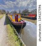 a canal on the inland waterways ... | Shutterstock . vector #134127596