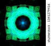 light mandala. symmetry and... | Shutterstock . vector #1341279416