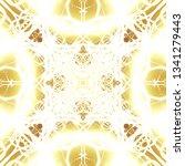 light mandala. symmetry and... | Shutterstock . vector #1341279443