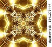 light mandala. symmetry and... | Shutterstock . vector #1341279449