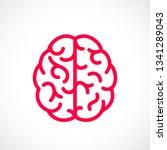 human mind vector pictogram... | Shutterstock .eps vector #1341289043
