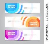 vector abstract  design banner... | Shutterstock .eps vector #1341306206