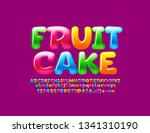 vector glossy colorful logo... | Shutterstock .eps vector #1341310190