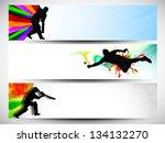 cricket website headers or... | Shutterstock .eps vector #134132270