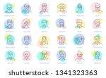 thin line vector online people... | Shutterstock .eps vector #1341323363
