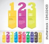 modern arrow banner style step... | Shutterstock .eps vector #134132420