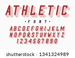 athletic font  varsity and... | Shutterstock .eps vector #1341324989