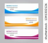 modern flat wave banner...   Shutterstock .eps vector #1341332126