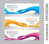 modern flat wave banner...   Shutterstock .eps vector #1341332180