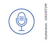microphone icon. vector... | Shutterstock .eps vector #1341337199