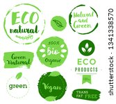 healthy food icons  labels.... | Shutterstock .eps vector #1341338570