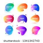 set of modern abstract vector... | Shutterstock .eps vector #1341342743