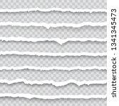 torn paper sheet edges... | Shutterstock .eps vector #1341345473