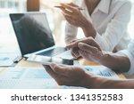 asian advertising designer... | Shutterstock . vector #1341352583