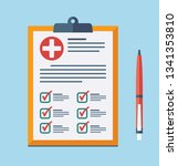 medical report  prescription ... | Shutterstock .eps vector #1341353810