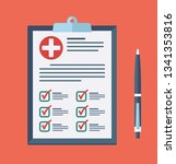 medical report  prescription ... | Shutterstock .eps vector #1341353816