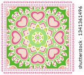 decorative colorful ornament on ... | Shutterstock .eps vector #1341361496