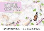 spring sale cherry blossom... | Shutterstock .eps vector #1341365423