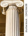 greek ionic column | Shutterstock . vector #134136638