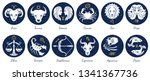 Set Of Zodiac Signs Icons....