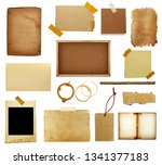 collection of various vintage... | Shutterstock . vector #1341377183