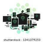 corporate identity of the... | Shutterstock .eps vector #1341379253