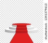 stage podium with red carpet.... | Shutterstock .eps vector #1341379613