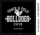 bulldogs track and field ... | Shutterstock .eps vector #1341386429