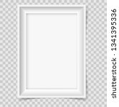 retro style empty picture frame ... | Shutterstock .eps vector #1341395336