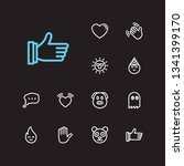 emoji icons. set of character... | Shutterstock . vector #1341399170