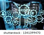 RDP Remote Desktop Protocol. Terminal Services. Server background.