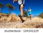 marathon running athletes... | Shutterstock . vector #134141129
