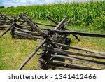 Split rail fence infront of tall corn - Antietam National Battlefield - Sharpsburg MD