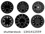 clock face blank set isolated... | Shutterstock .eps vector #1341412559