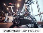 exercise bikes in the fitness... | Shutterstock . vector #1341422543