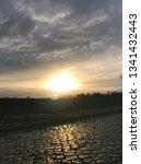 sundown with street | Shutterstock . vector #1341432443