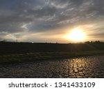 sundown with street | Shutterstock . vector #1341433109