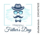 happy father's day card. cute... | Shutterstock .eps vector #1341437633