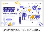 landing page with man making... | Shutterstock .eps vector #1341438059