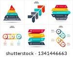 vector infographic set. arrows  ... | Shutterstock .eps vector #1341446663