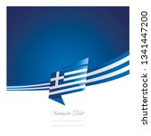 greece flag ribbon new abstract ... | Shutterstock .eps vector #1341447200