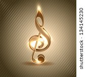 abstract musical note  music... | Shutterstock .eps vector #134145230