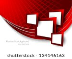 Abstract Red Background With...