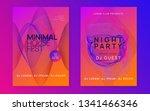 music flyer. dynamic gradient... | Shutterstock .eps vector #1341466346
