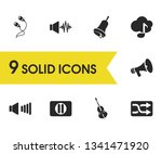 melody icons set with high...