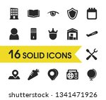 mixed icons set with 3d pin ...