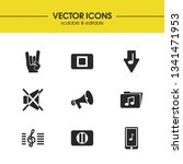 melody icons set with music...