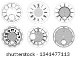 clock face blank set isolated... | Shutterstock .eps vector #1341477113