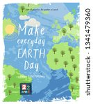 happy earth day  vector eco... | Shutterstock .eps vector #1341479360