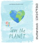 happy earth day  vector eco... | Shutterstock .eps vector #1341479363